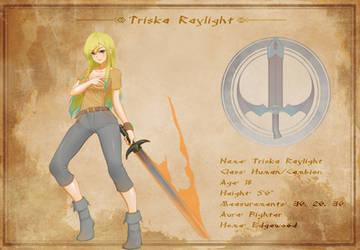 Character Sheet - Triska Raylight