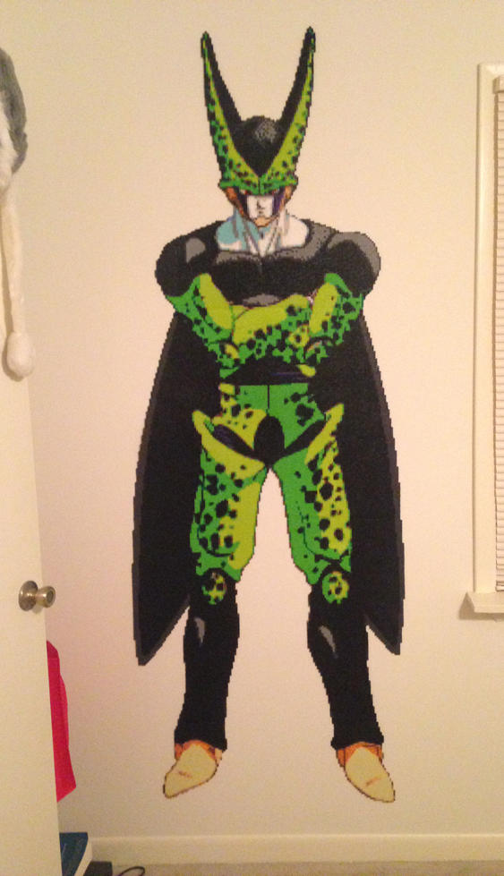 Sooo... I made a lifesize Cell beadsprite.