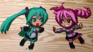 Hatsune Miku and Kasane Teto