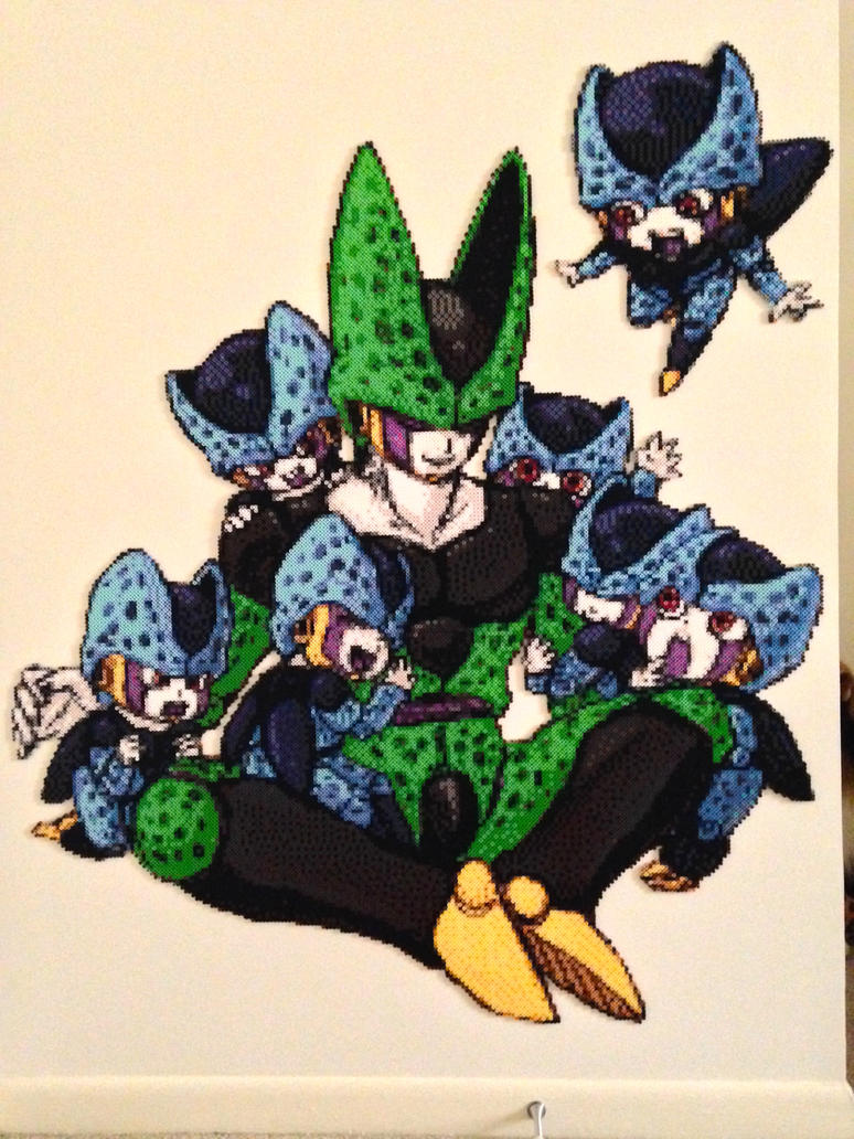 A semi lifesize beadsprite mural cell and babies by ellsworth toohey on deviantart - Dragon ball z baby cell ...