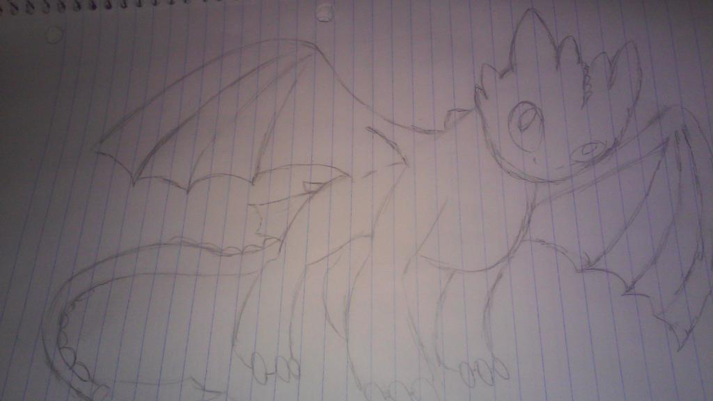 Toothless drawing by iwuvgarfield