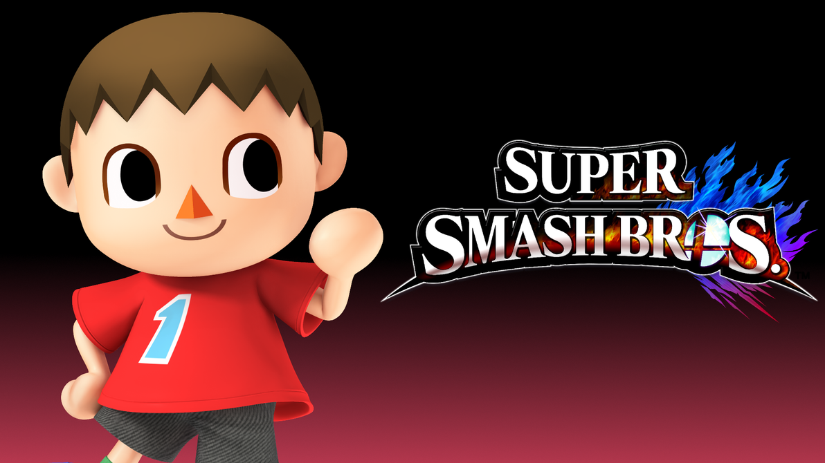 super smash bros 4 wallpaper male villager 1 by thewolfgalaxy on