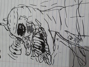 Angus Grimville Notebook And Sharpie Rough Sketch