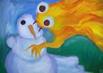 Snowman and Sun