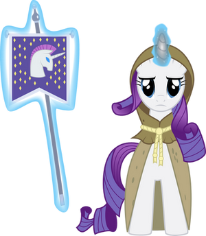 Rarity as Clover the Clever