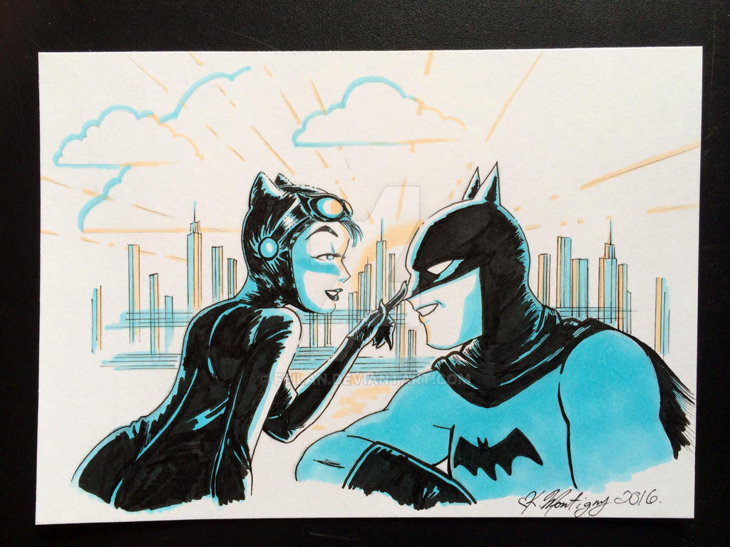 Batman and Catwoman by Feilan