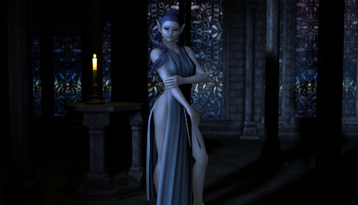 Blue 3d elf exploited photo