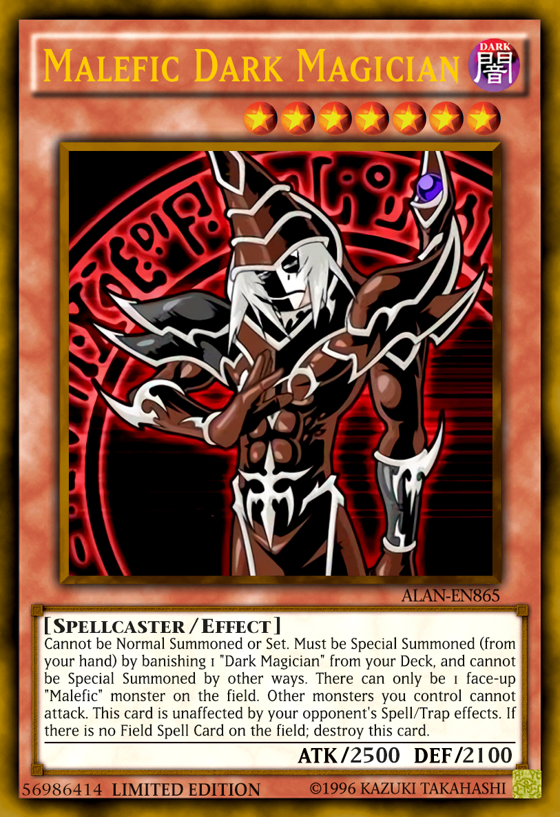 malefic dark magician by alanmac95 on deviantart