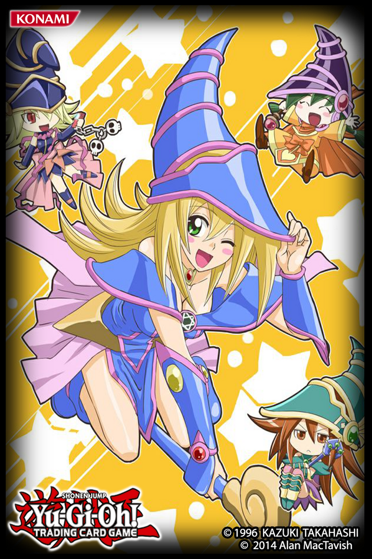 dark magician girls card sleeve by alanmac95 on deviantart