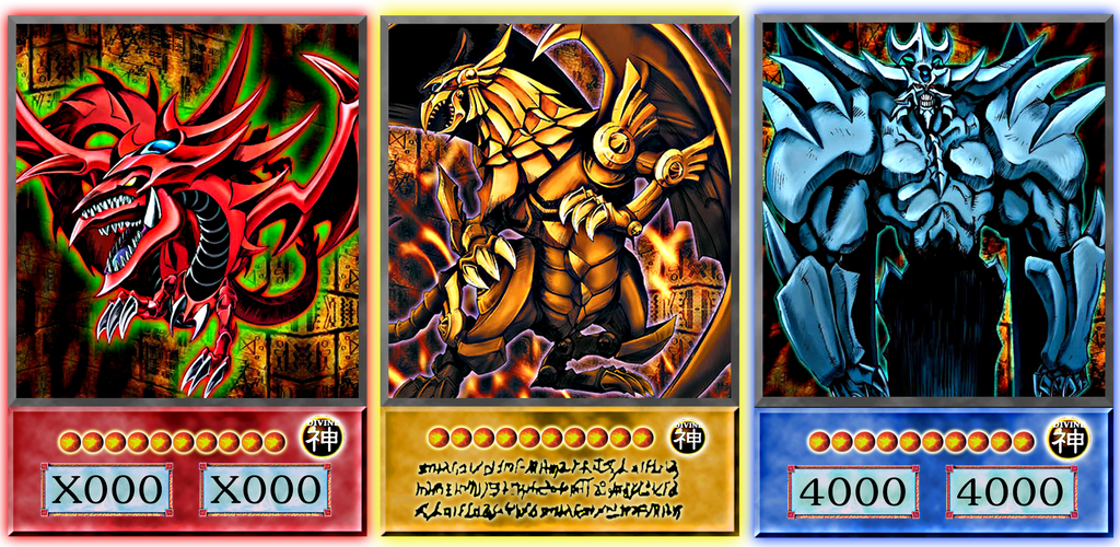Yu Gi Oh Three Egyptian God Cards - New Naked Girls