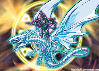Dark Magician the White Dragon Magician [Artwork] by AlanMac95