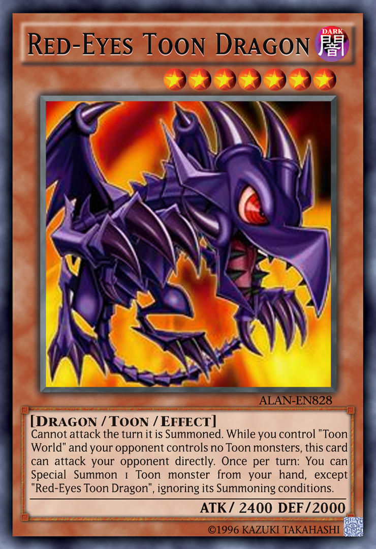 red eyes toon dragon by alanmac95 on deviantart