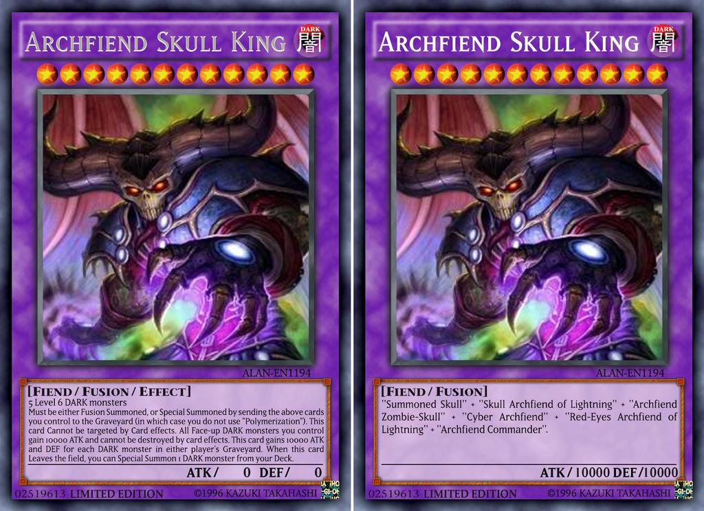 Archfiend Zombie Skull Archfiend Skull King b...
