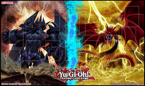 Obelisk VS  Slifer - Playmat