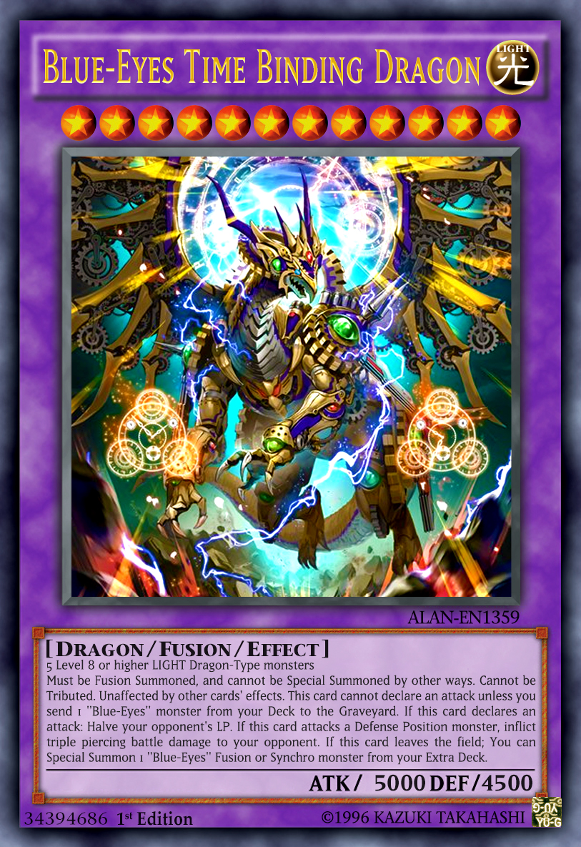 blue eyes time binding dragon by alanmac95 on deviantart