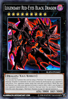 Legendary Red-Eyes Black Dragon by AlanMac95