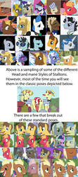 MLP:FiM Stallion Head Perspectives by Hawklaser