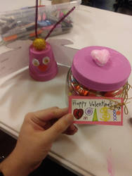 Church Valentine's butterfly and candy jar by Dinner101