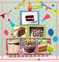 Birthday Scrapbooking Card Demo by Dinner101