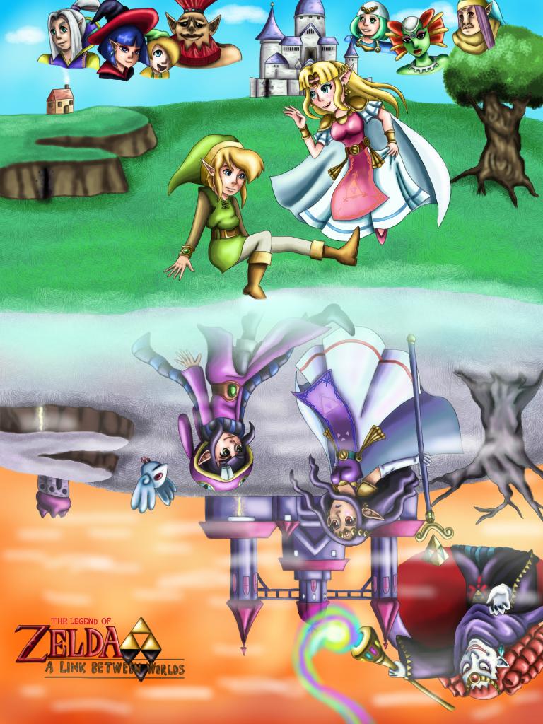 Legend of Zelda  A Link Between Worlds Poster by WhiteMageOfTerminaA Link Between Worlds Poster