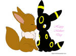 Evee and momy Umbreon