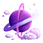 [PixelArt] Purple Planet F2U! by Biby-san