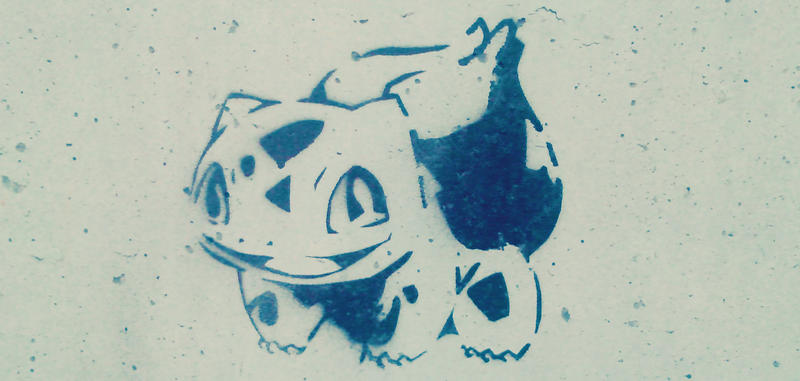 Bulbasaur Stencil by msshanh