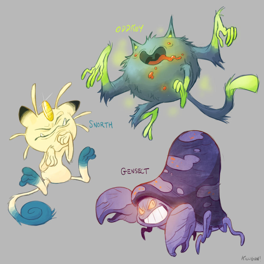 Pokemon Fusions by killigann