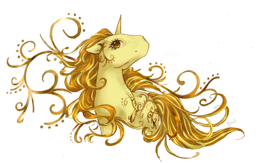 golden unicorn by yaizel