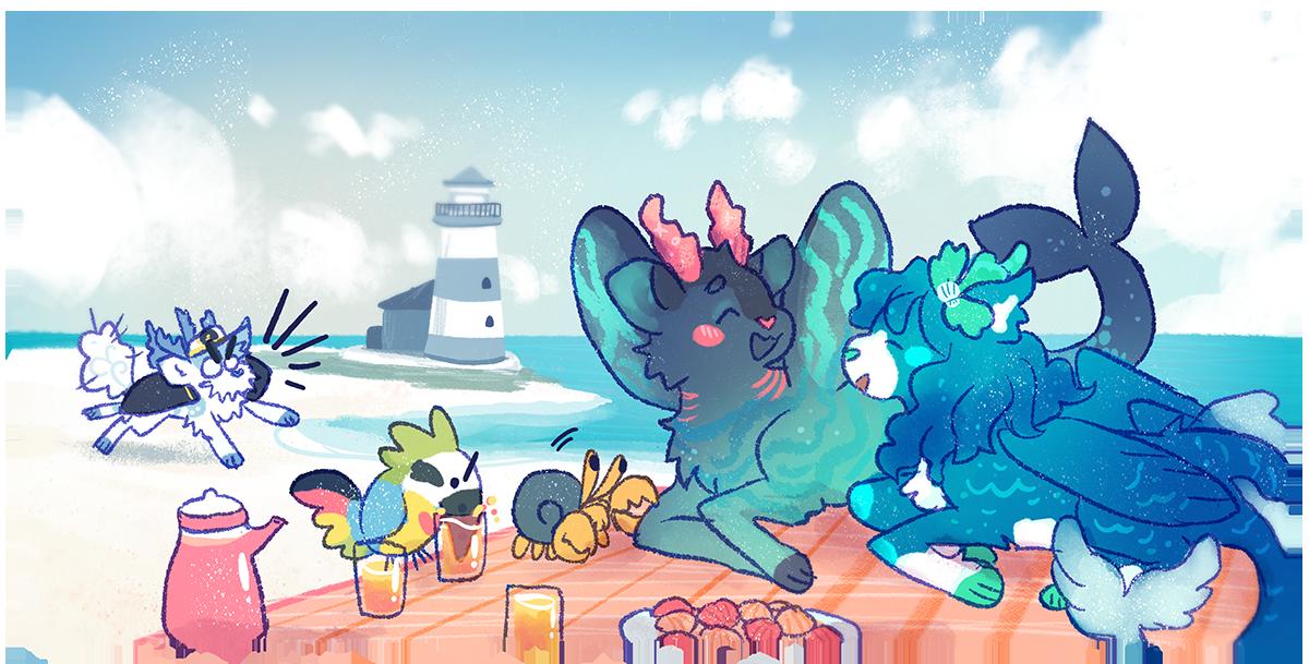 [pouflon] Seaside Teatime