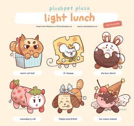 Adoptable: [Plushpets] Light Lunch 1 [CLOSED] by BearWithGlasses