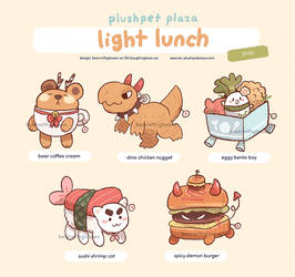 Adoptable: [Plushpets] Light Lunch 2 [Closed] by BearWithGlasses