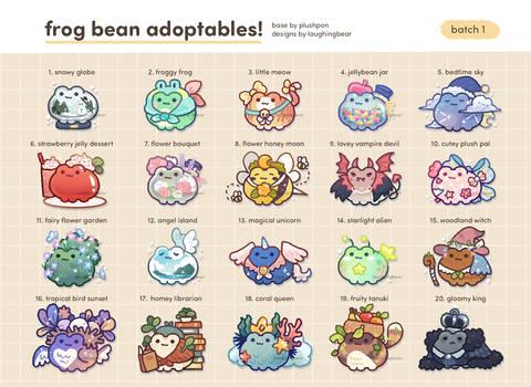 Frog Bean Adoptables: [CLOSED]