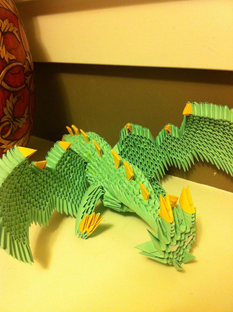 3d origami dragon by waddlesthepenguin on deviantart