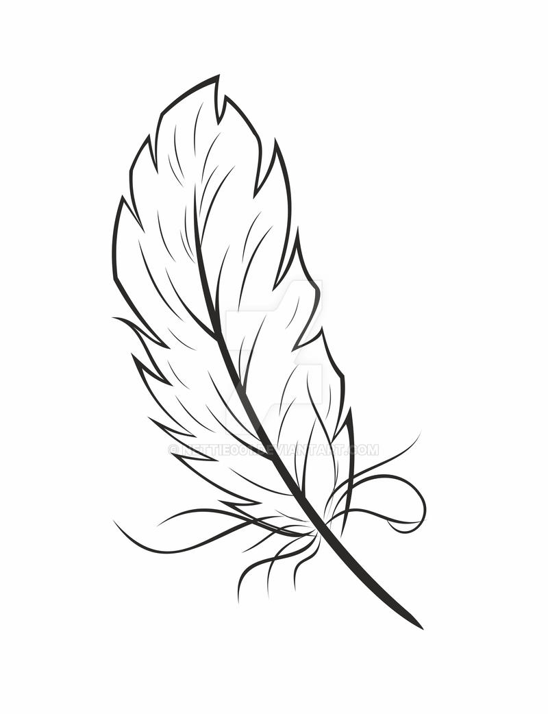 Line Art Feather : Feather graphic by nettie on deviantart