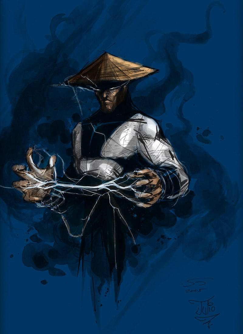 Mortal Kombat Raiden Drawings Raiden Colored by Malk...
