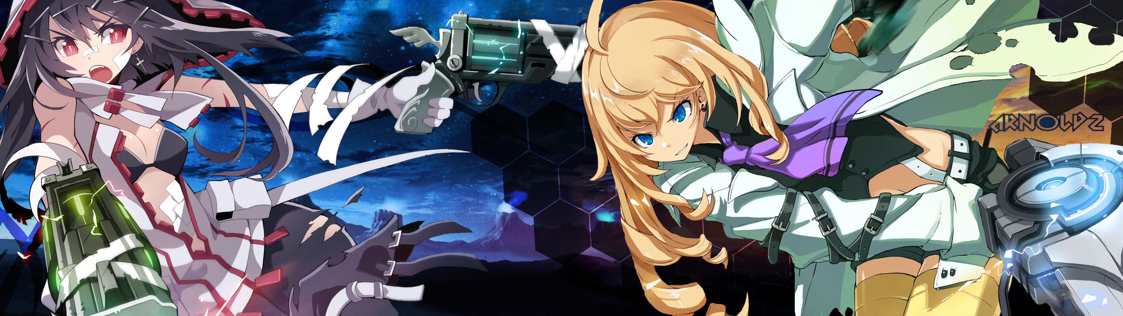 ... Anime Girls Dual Screen/Moniter [3840x1080] by iarnoldz