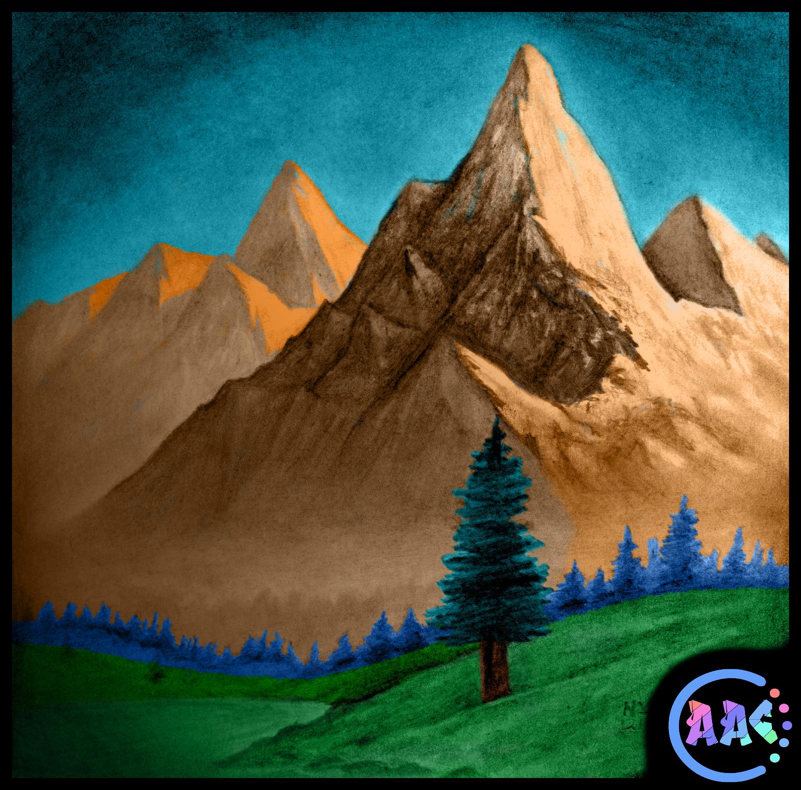 Рисунок простым карандашом пейзаж поэтапно 6