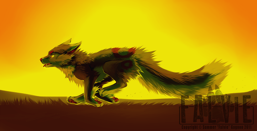 Run Until The Sun Burns Out by falvie