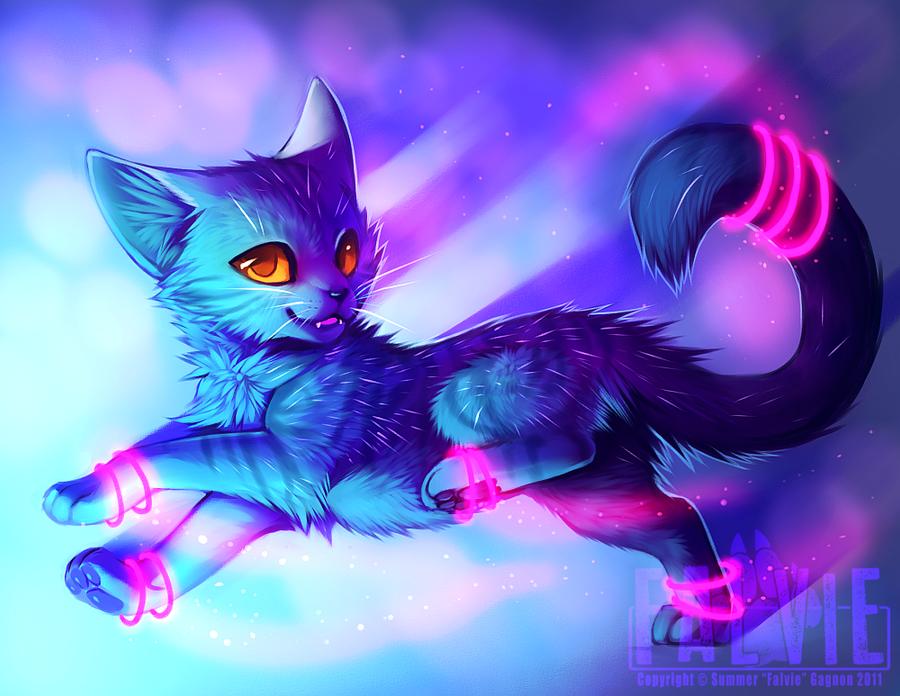 Purple Animated Cat S