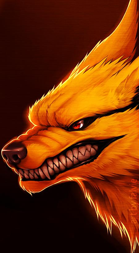 Nine-Tailed Demon fox by falvie on DeviantArt  Nine-Tailed Dem...