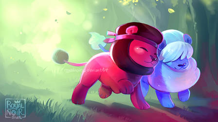 Ruby and Sapphire Lions