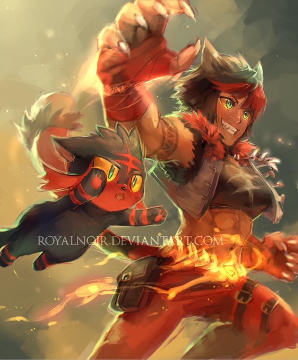 Incineroar by RoyalNoir on DeviantArt