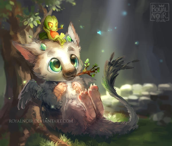 Trico and Treecko by RoyalNoir