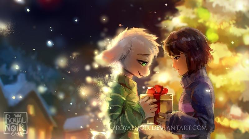 Brief encounter in Snowdin by RoyalNoir