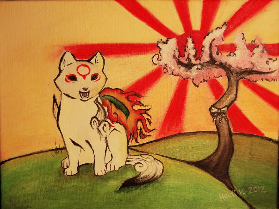 Chibiterasu painting by master-niila