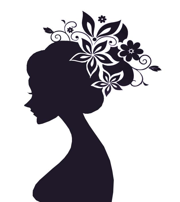 Cute girl silhouette b...