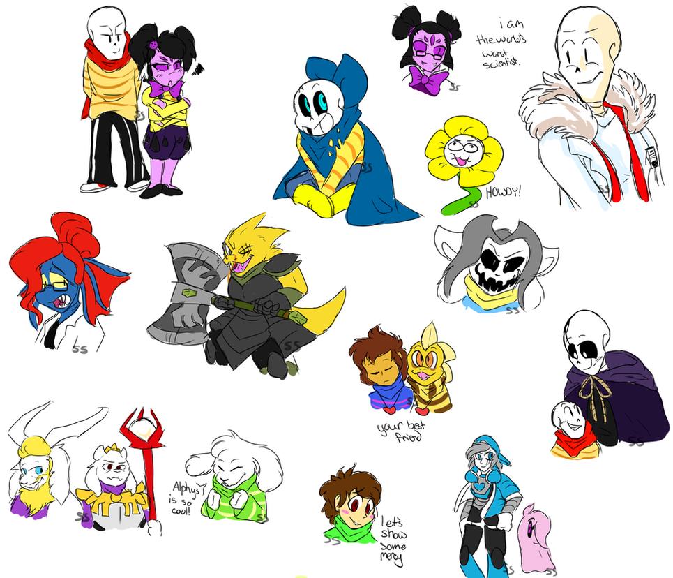 Underswap Doodles By SonicSans On DeviantArt