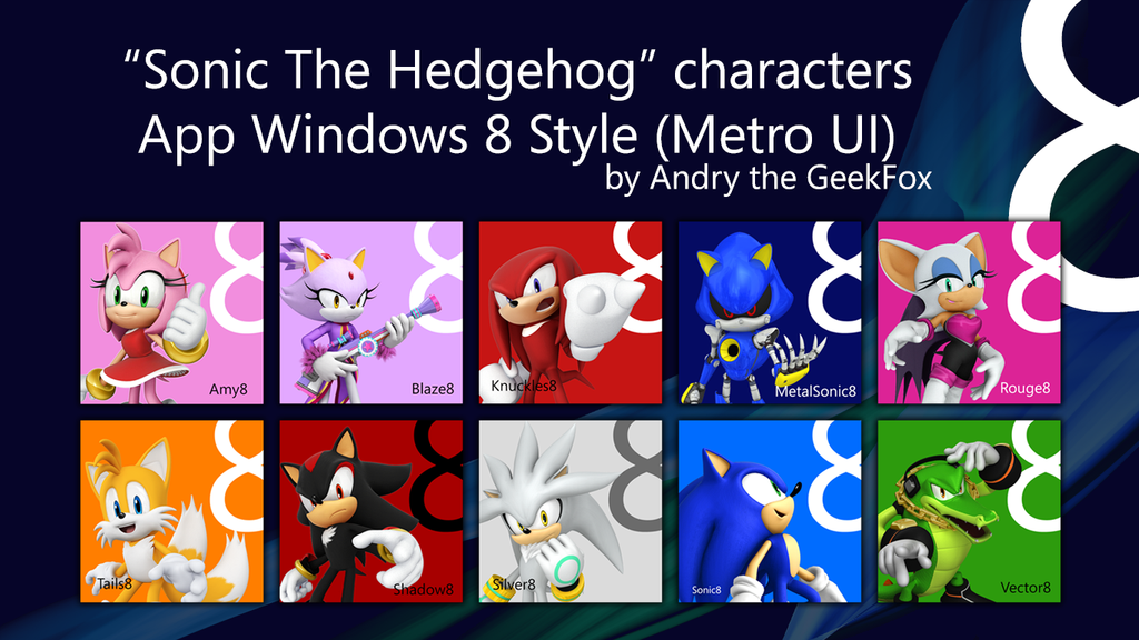 Sonic The Hedgehog Wallpaper Windows 8 Apps By MilesAndryPrower
