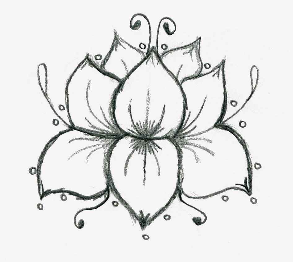Single Flower Mehndi Designs : Single flower henna designs imgkid the image